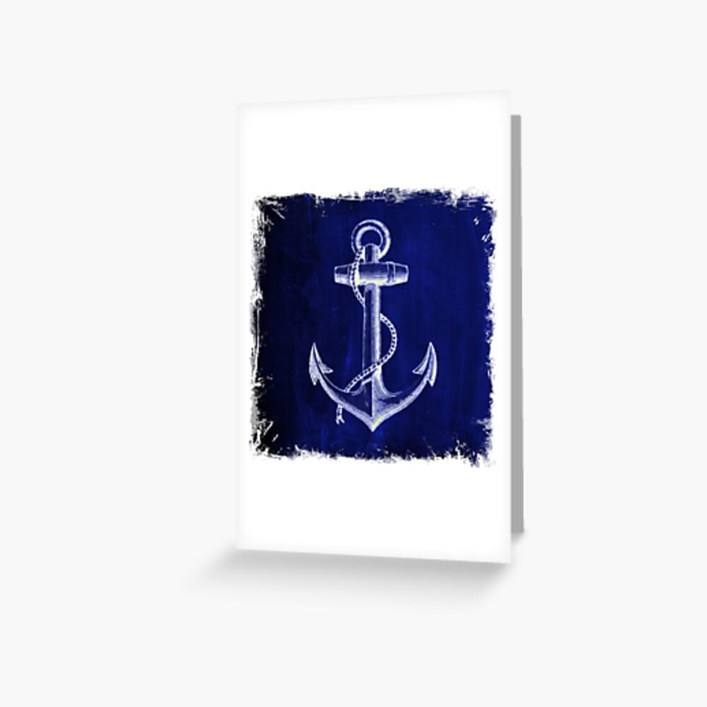 Rustikaler Strandseemannart Marineanker nautisch Grußkarte
