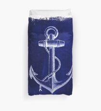 Rustic beach sailor fashion Navy blue anchor nautical  Duvet Cover