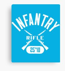 25th ID Military Infantry Design Canvas Print