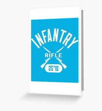 25th ID Military Infantry Design Greeting Card