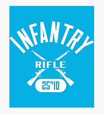 25th ID Military Infantry Design Photographic Print