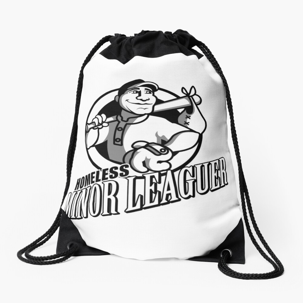 Homeless Minor Leaguer Drawstring Bag Front