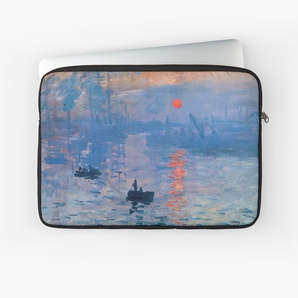 CLAUDE MONET, Impression, Sunrise. Laptop Sleeve