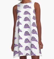 Sea Hare Tribal Design - Colored  A-Line Dress