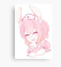 Cute Bunny Nurse Canvas Print