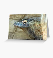 Relaxing Kimodo Dragon Greeting Card