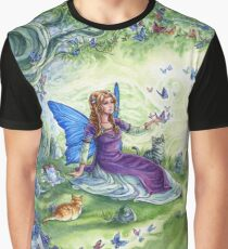 Ericka's Fairy Friends - Fairy, cat and dragon Graphic T-Shirt