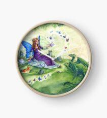 Ericka's Fairy Friends - Fairy, cat and dragon Clock
