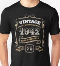 75th Birthday Gift Gold Vintage 1942 Aged Perfectly T-Shirt