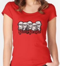 Party People July 4th American History Women's Fitted Scoop T-Shirt