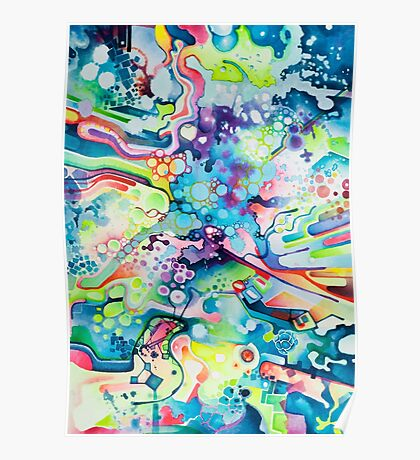 Parts of Reality Were Missing, But Which Parts? - Watercolor Painting Poster