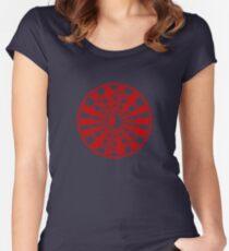 Mandala 36 Yin-Yang Colour Me Red Women's Fitted Scoop T-Shirt