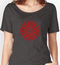 Mandala 36 Yin-Yang Colour Me Red Women's Relaxed Fit T-Shirt