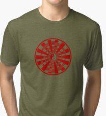 Mandala 36 Yin-Yang Colour Me Red Tri-blend T-Shirt