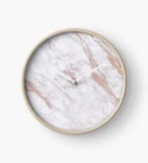 Rose Gold Marble Clock