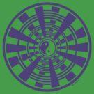 Mandala 36 Yin-Yang Purple Haze by sekodesigns