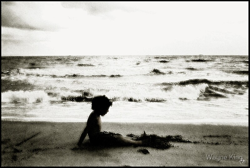 """Beach Silhouette"" Photographic Prints by Wayne King ..."