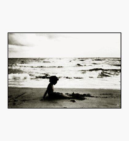 Beach Silhouette Photographic Print