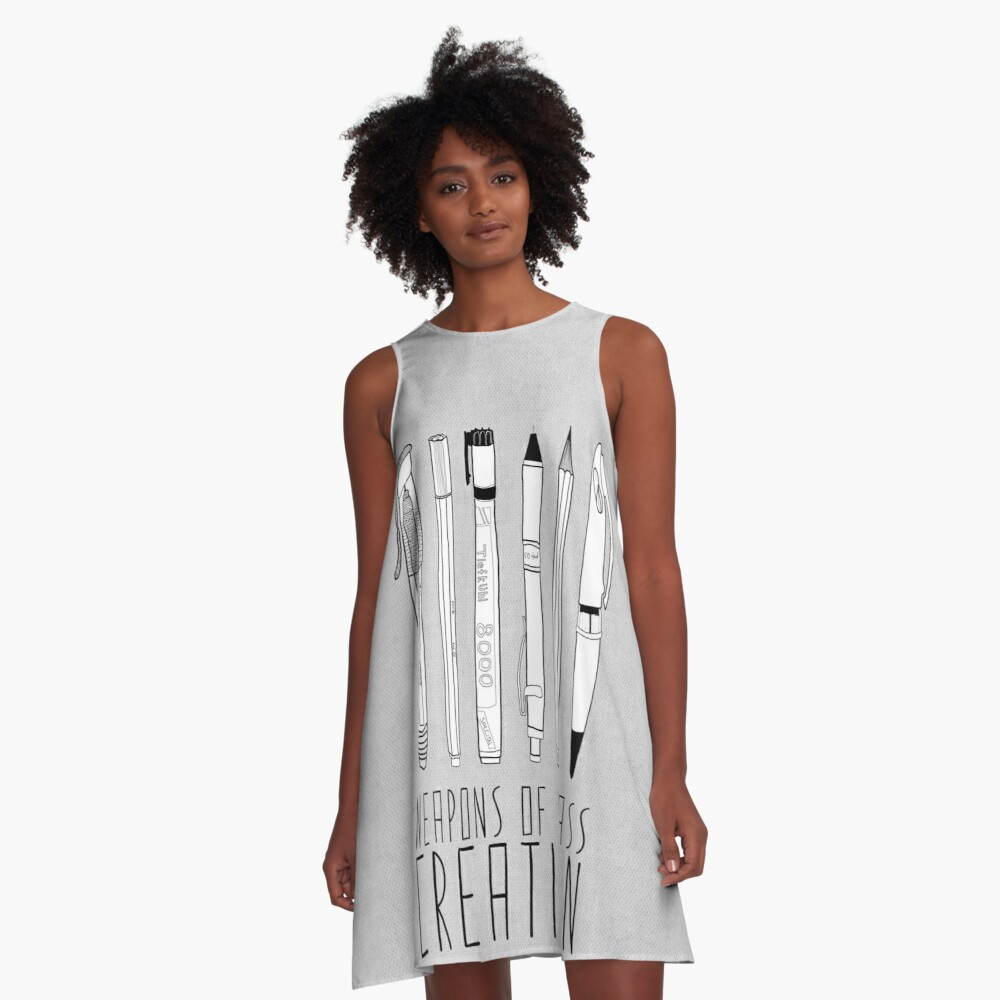 Weapons Of Mass Creation (on grey) A-Line Dress