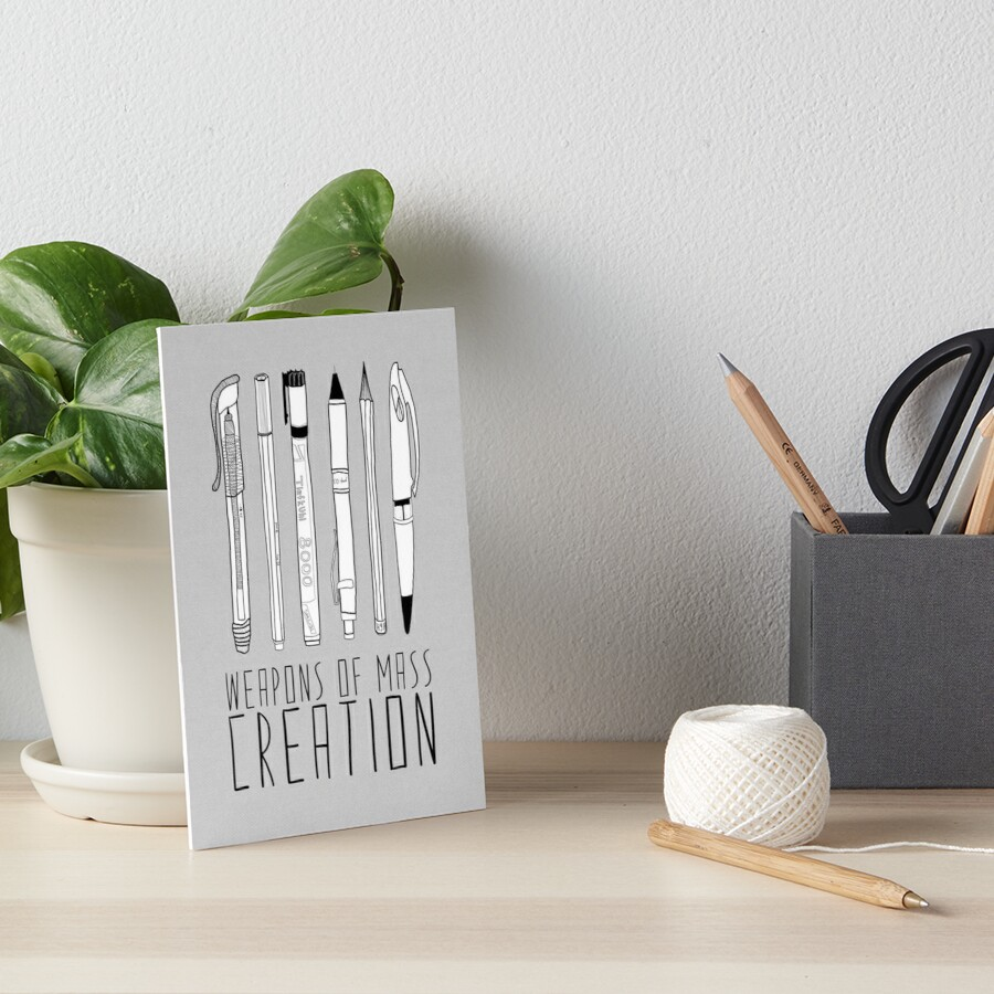 Weapons Of Mass Creation (on grey) Art Board Print