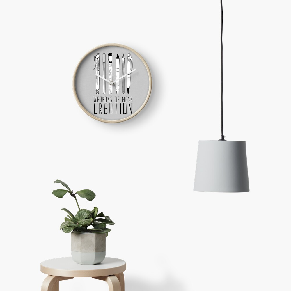Weapons Of Mass Creation (on grey) Clock