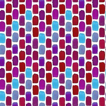 Patrón de gradiente de acuarela azul y rojo de skinnyginny