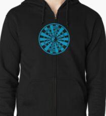 Mandala 36 Yin-Yang In To The Blue Zipped Hoodie