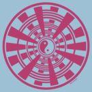 Mandala 36 Yin-Yang Pretty In Pink by sekodesigns