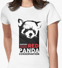 2017 Red Panda Conservation Design Womens Fitted T-Shirt