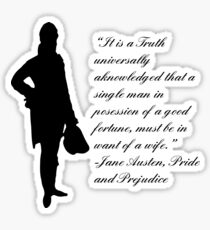 Pride and Prejudice quote Sticker