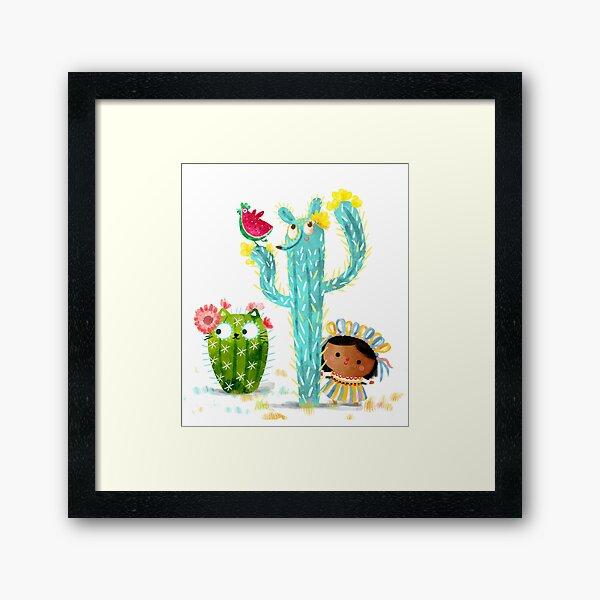 Cacti besties Framed Art Print