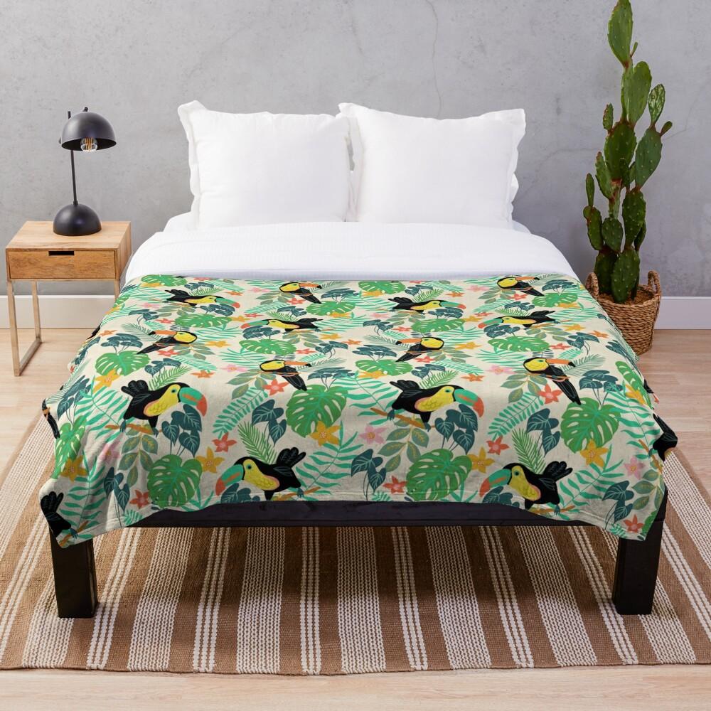 Toucan Island Throw Blanket