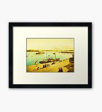 Harbour Parasols Framed Print