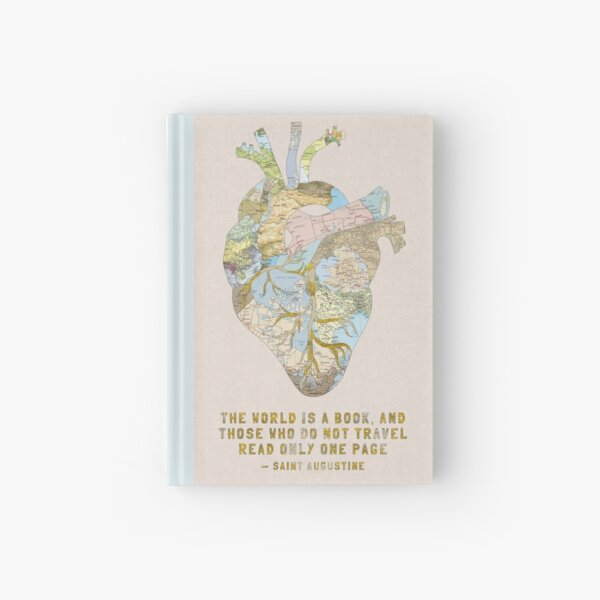 A Traveler's Heart + Quote Hardcover Journal