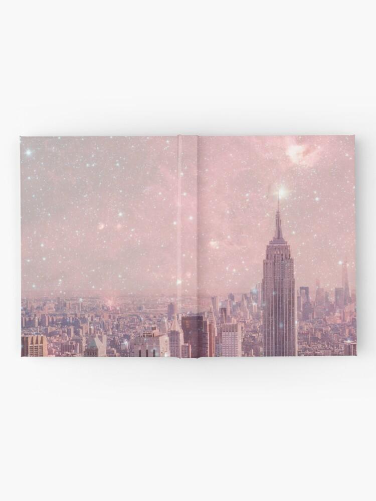 Alternative Ansicht von Stardust, der New York bedeckt Notizbuch