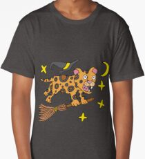 Lukas White the Leopard Witch Long T-Shirt