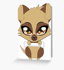 Cute little brown puppy Greeting Card