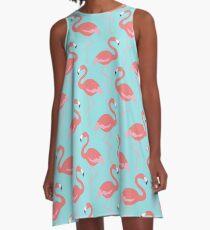 Flock-o-'Mingos A-Line Dress