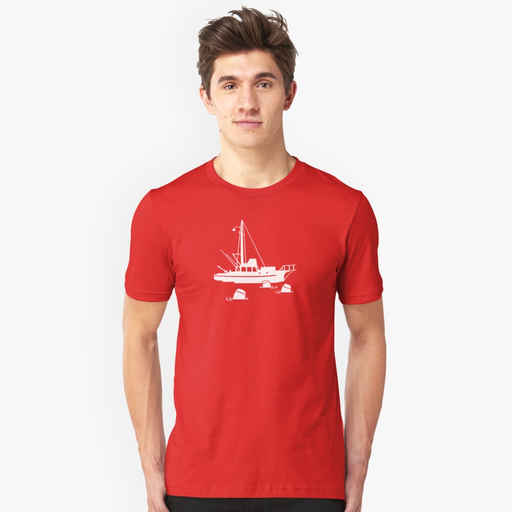 Jaws - Orca with Barrels Unisex T-Shirt Front