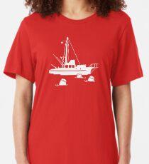 Jaws - Orca with Barrels Slim Fit T-Shirt