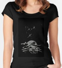 Brush and Ink - 0157 - Sky Fishers Women's Fitted Scoop T-Shirt