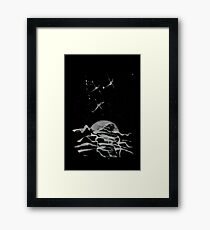Brush and Ink - 0157 - Sky Fishers Framed Print