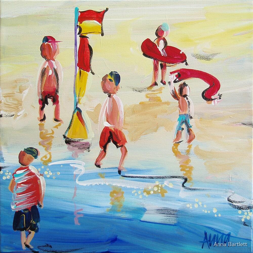 On the beach by Anna Bartlett