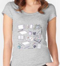 Make Art! Women's Fitted Scoop T-Shirt