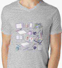 Make Art! T-Shirt mit V-Ausschnitt