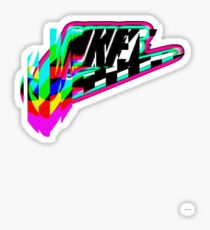 Glitched logo Sticker