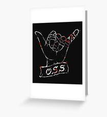 OSS Hand ( BJJ / Brazilian Jiu Jitsu ) Greeting Card