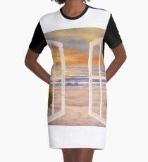 SUNSET BEACH Graphic T-Shirt Dress