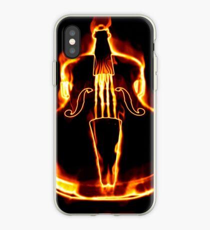 Klassische Geige in der Flamme iPhone-Hülle & Cover