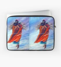 Surviving Another Day Native American Woman Mom Gathering Wood Winter Snow Snowy Female Storm Wilderness Strong Powerful Blizzard Boots Mother  Laptop Sleeve